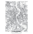 detailed poster city map cologne vector image vector image