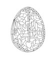 easter egg coloring book hand drawn vector image