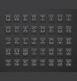 english alphabet and digits on scoreboard template vector image vector image