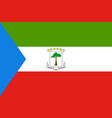 equatorial guinea flag vector image vector image