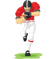 Football Player Holding Ball vector image