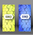 geometric scientific vertical banners vector image vector image
