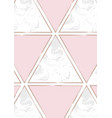 gold pink and marble hexagons template with vector image