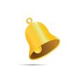 Golden bell on white bakground vector image