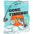 Hand Drawn Advertising Fishing Poster vector image