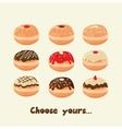 Hanukkah doughnut Traditional holiday food vector image vector image