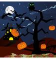 happy halloween theme greeting card vector image vector image