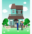 house rent banner home selection building buying vector image