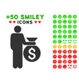 investor icon with bonus mood collection vector image vector image