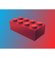 isolated plastic toy brick original game object vector image