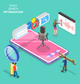 isometric flat concept voice search vector image vector image