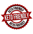 keto friendly label or sticker vector image vector image