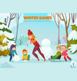 kindergarten winter walk vector image vector image