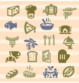 kitchen icons vector image vector image