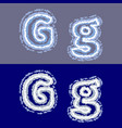 letter g on grey and blue background vector image vector image