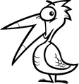 little bird cartoon for coloring book vector image vector image