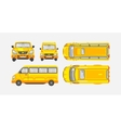 Minibus top front side view vector image vector image