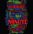 minute tricks to help you get organized text vector image vector image