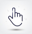 modern hand icon mouse pointer vector image