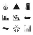 oil rig pump and other equipment for oil recovery vector image vector image