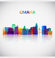 omaha skyline silhouette in colorful geometric vector image vector image