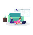 online learning concept vector image