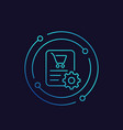 order processing icon linear vector image vector image