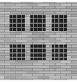 Prison Grey Brick Wall vector image