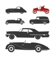 Retro car silhouette vector image vector image