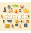 Retro experiments in a science chemistry vector image vector image