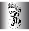 roman sculpture vector image