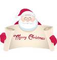 Santa Claus with greetings banner
