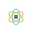 science real estate logo icon design vector image