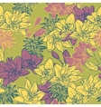 Seamless floral background with bird vector image vector image