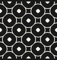 seamless funky pattern with circles and squares vector image
