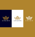 set crown logo design vector image vector image