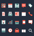 Set of business office work icons vector image vector image