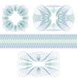 Set of decorative guilloche rosettes vector image vector image