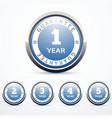 set of guarantee badges vector image vector image