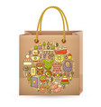 shopping bag and cute colorful baby icon vector image vector image