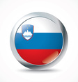 Slovenia flag button vector image vector image