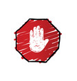 stop trafficking sign vector image