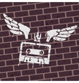 Symbol Graffiti cassette vector image vector image