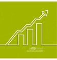 The graph shows the growth and profit vector image vector image