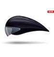 time trial bicycle carbon helmet vector image