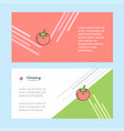 tomato abstract corporate business banner vector image