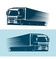 truck lorry logo or label trucking delivery vector image