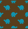 turtle pattern seamless tortoise background vector image vector image