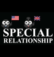 USA UK special relationship vector image vector image