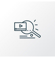 video search icon line symbol premium quality vector image vector image